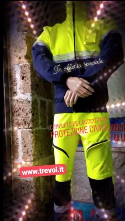 trevolstore Pantalone Slim Fit Giallo Fluo Blu Navy